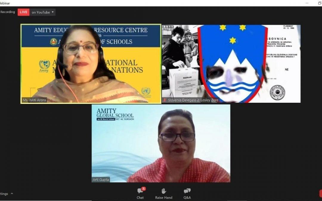 Izvrsten dosežek naših dijakinj na simulaciji zasedanja Generalne skupščine OZN, 6.–8. 10. 2021 New delhi