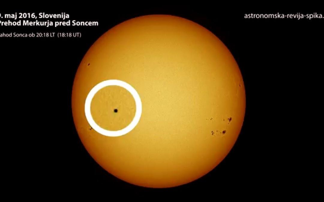 Potovanje Merkurja preko Sončeve ploskve