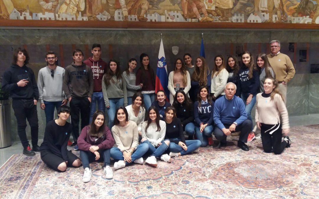 Obisk španskih dijakov v okviru mednarodne izmenjave