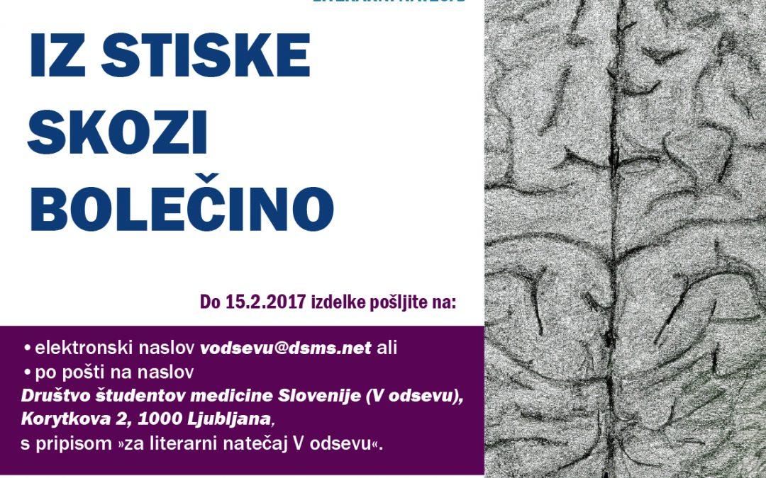 Razpis za literarni natečaj ob svetovnem dnevu osveščanja o samopoškodovanju