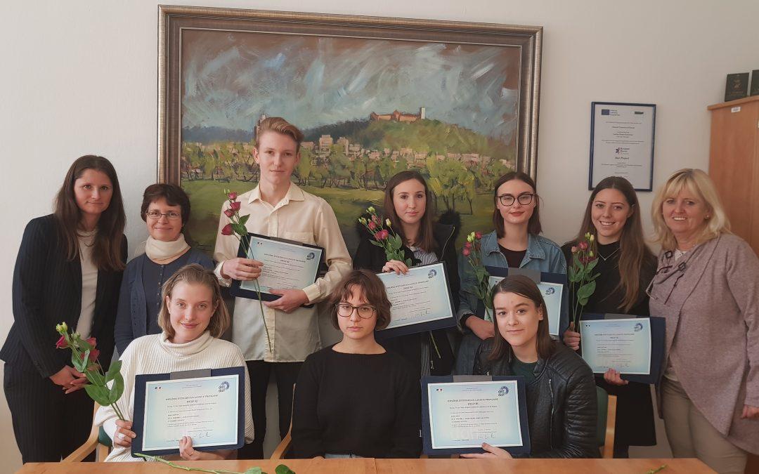 Podelitev mednarodnih francoskih certifikatov DELF našim dijakom