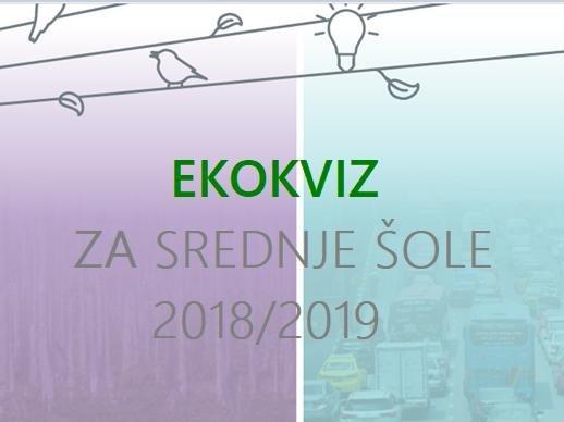 Rezultati Ekokviza za srednje šole 2018/2019