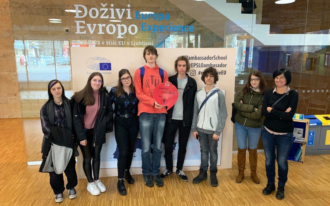 Uspeh naših dijakov na tekmovanju o Evropski uniji – Gremo v Strasbourg!